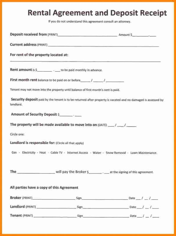 One Page Rental Agreement Beautiful Simple E Page Lease Agreement