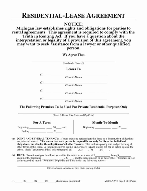 One Page Rental Agreement Fresh 1 Page Rental Agreement