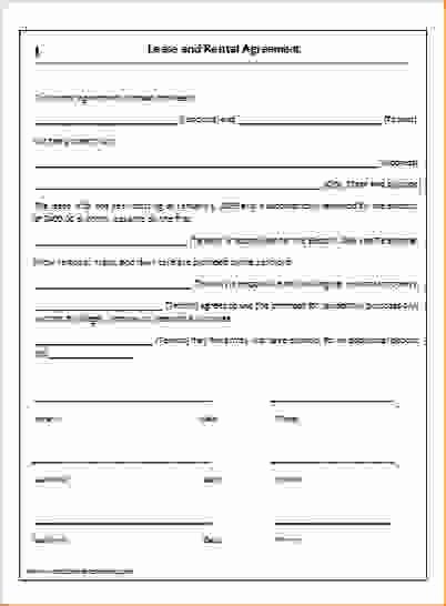 One Page Rental Agreement Luxury Simple E Page Lease Agreement