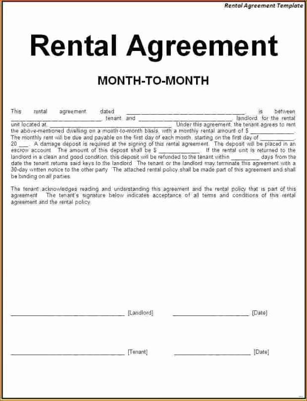 One Page Rental Agreement Unique Simple Rental Agreement Pdf Excellent Simple E Page