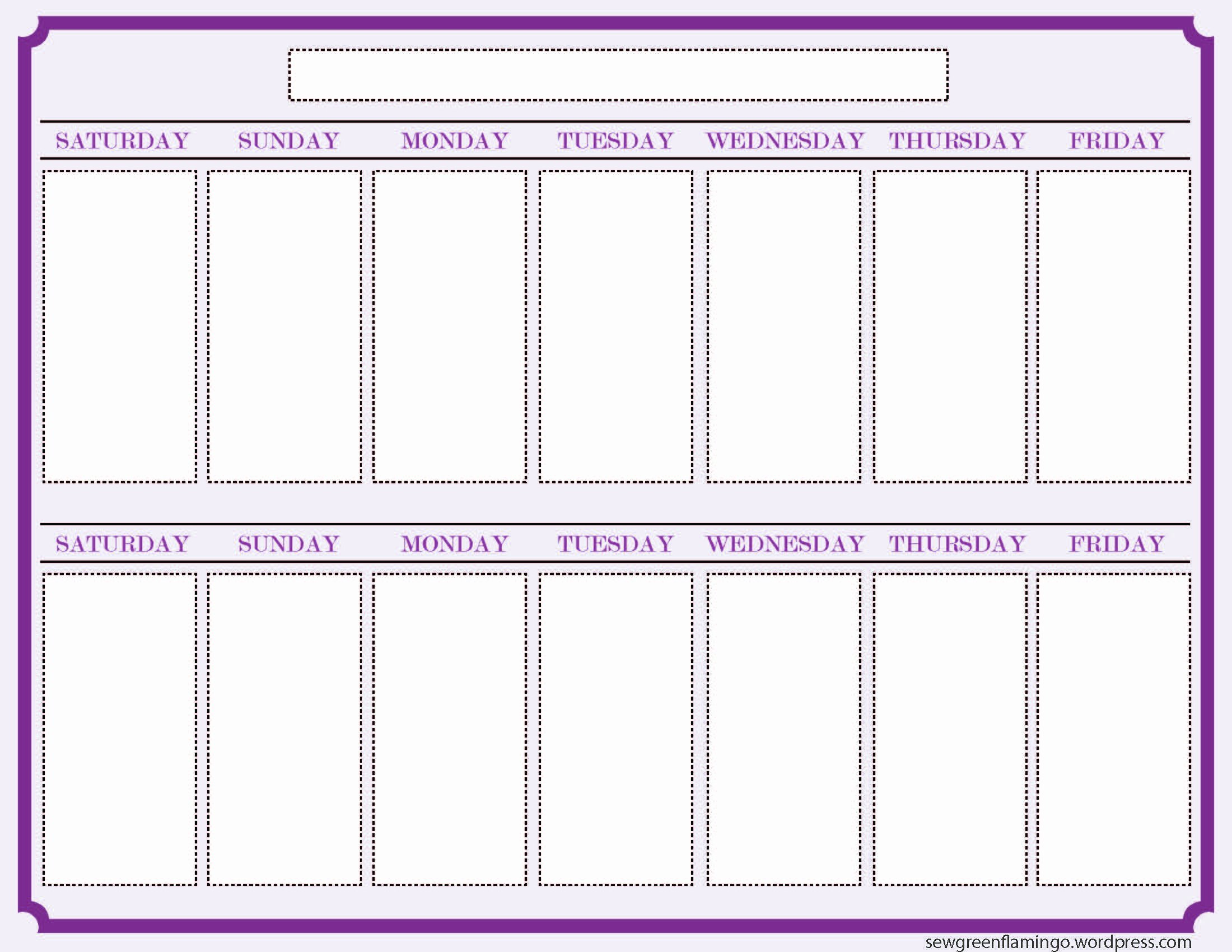 One Week Schedule Template Best Of Getting organized 2 Week Planner