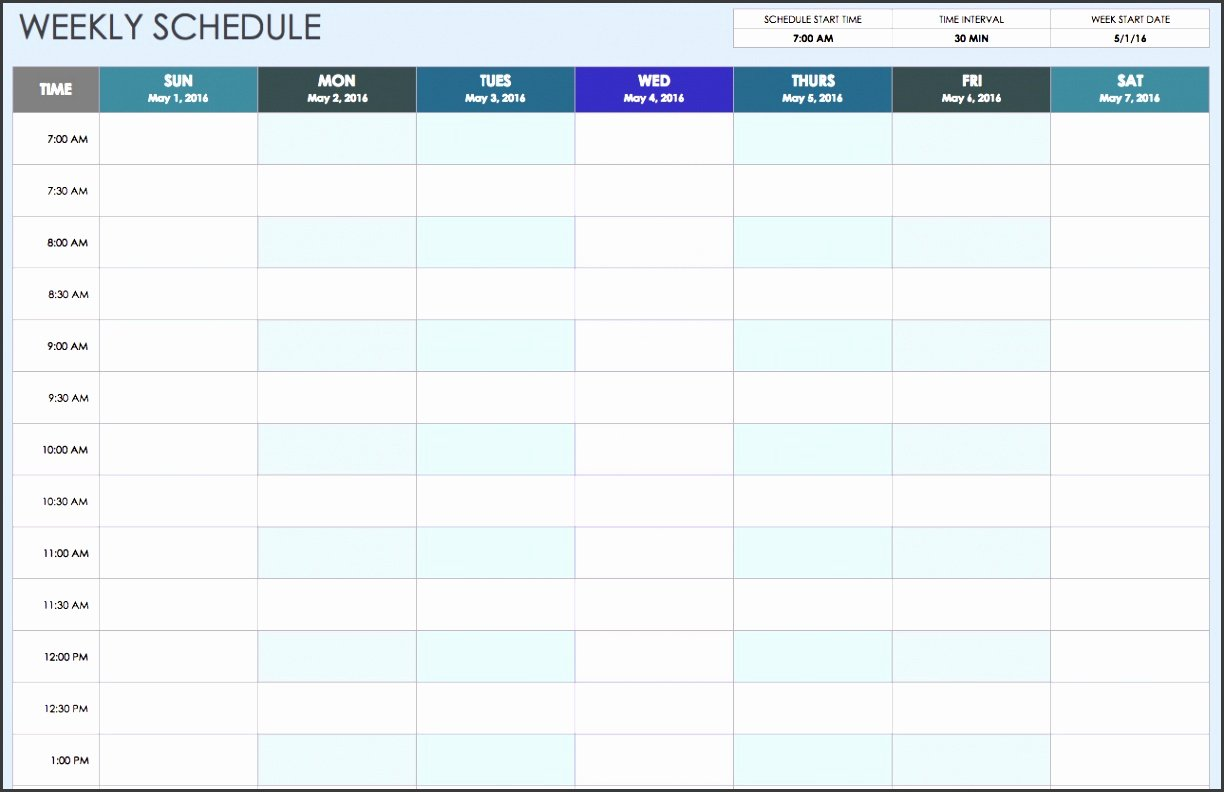 One Week Schedule Template Elegant 8 Student E Week Planner Template Sampletemplatess