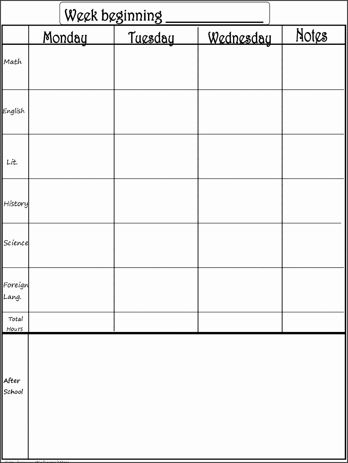 One Week Schedule Template Lovely 8 Editable E Week Planner Sampletemplatess