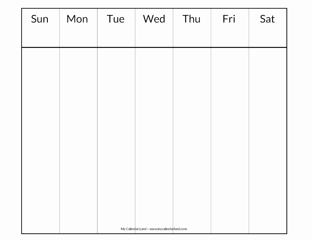 One Week Schedule Template Luxury Blank Calendar Printable My Calendar Land