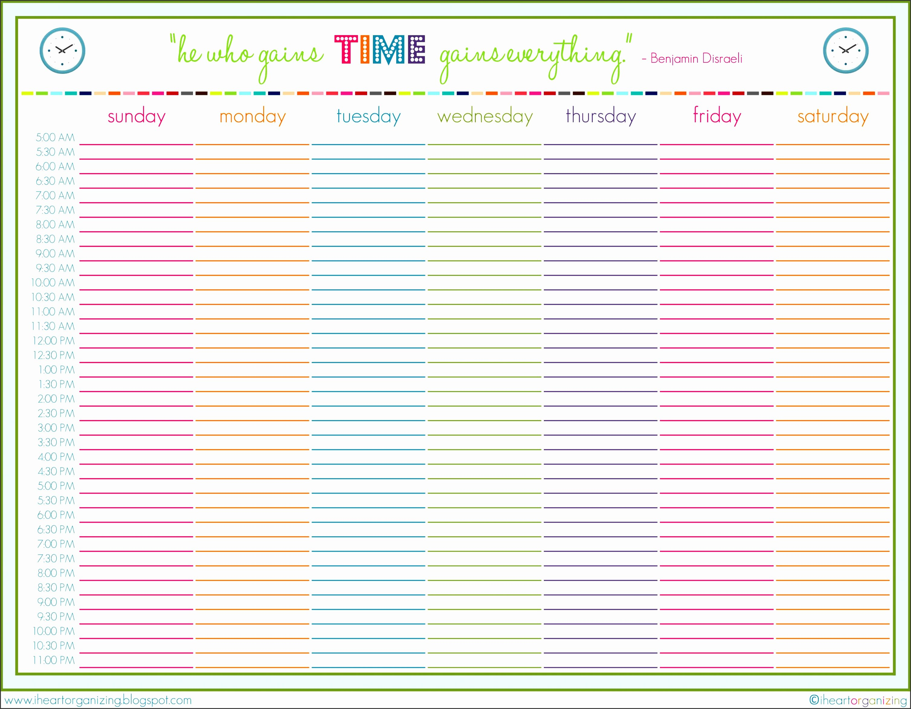 One Week Schedule Template Unique 10 E Week Planner Line Sampletemplatess