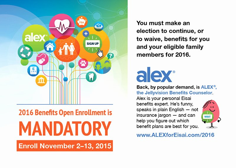 Open Enrollment Announcement Template Best Of Eisai Open Enrollment Brand Program – Alessi & Co