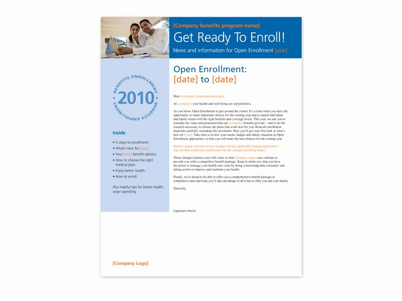 Open Enrollment Announcement Template Fresh Open Enrollment toolkit – Trion Munications