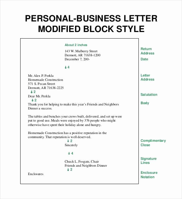 Open Office Business Letter Template Best Of Personal Business Letter format Block Style