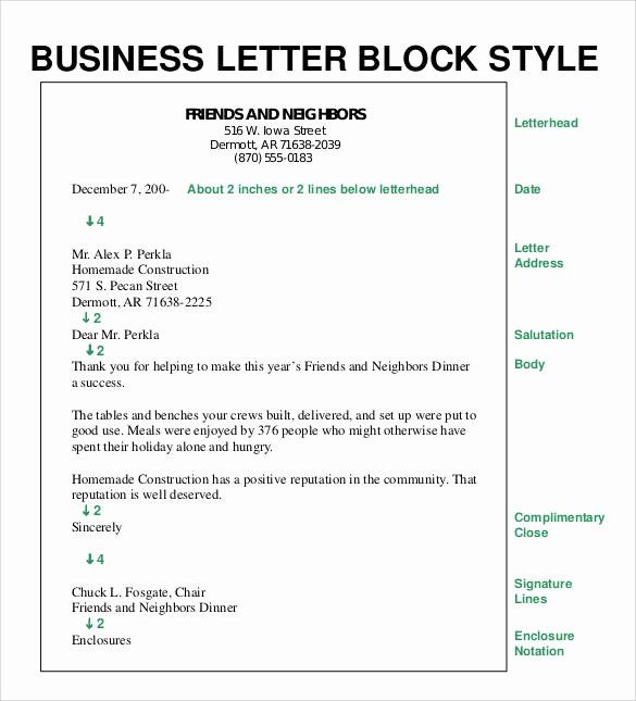 Open Office Business Letter Template Lovely formal Business Letter format 29 Download Free