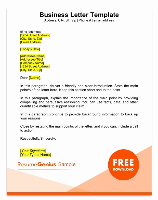 Open Office Business Letter Template New Sample Business Letter format 75 Free Letter Templates