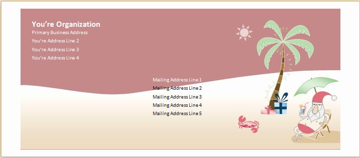 Openoffice Envelope Template Elegant Ms Word Christmas Envelope Template