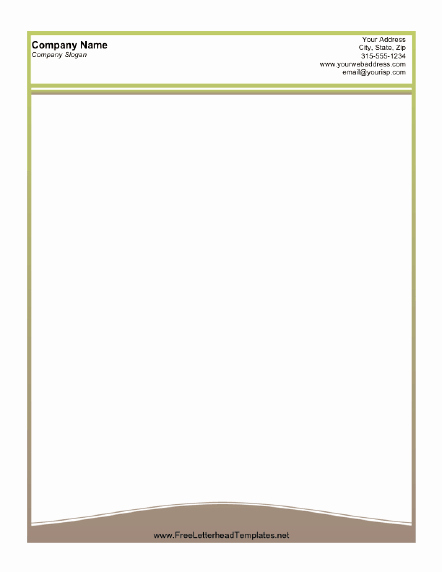 Openoffice Envelope Template Unique A Printable Letterhead Design with A Thin Olive Green