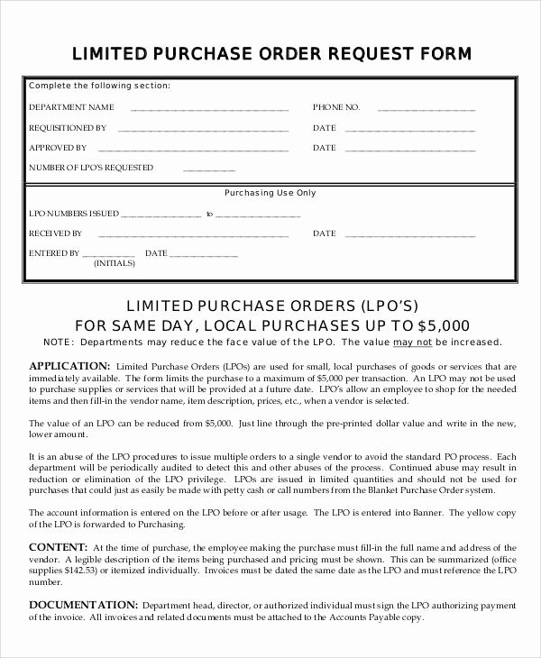 Order Request form Awesome Sample Purchase order Request form 8 Examples In Word Pdf