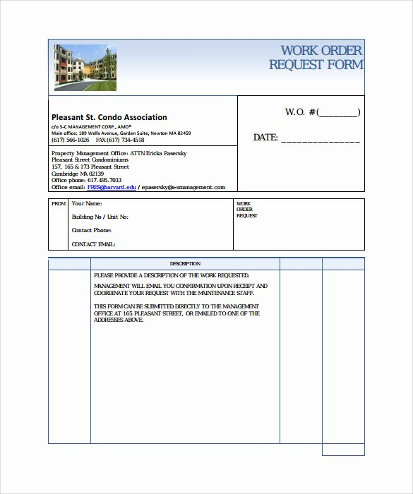 Order Request form Luxury 14 Work order Samples Pdf Word Excel Apple Pages