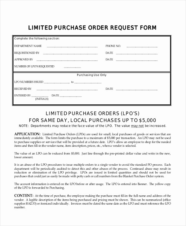 Order Request form New Sample Purchase order Request form 12 Free Documents In Pdf