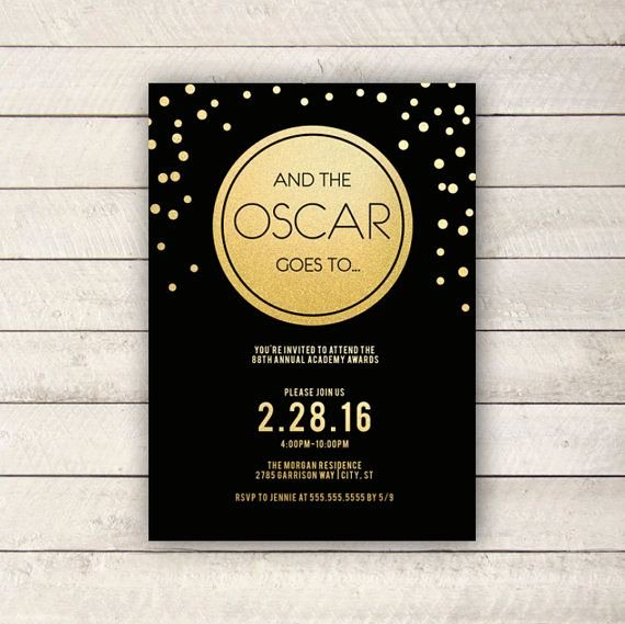 Oscar Invitation Templates Awesome Best 25 Oscar themed Parties Ideas On Pinterest