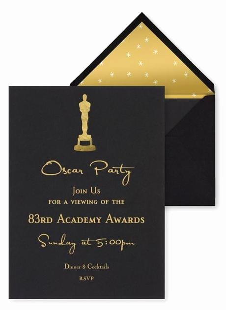 Oscar Invitation Templates Awesome Best Oscar Viewing Party Invitations Paperblog