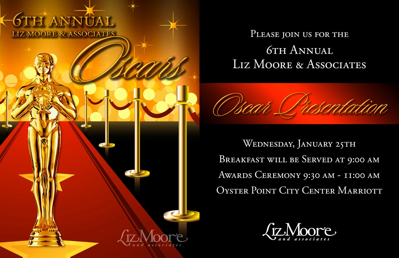 Oscar Invitation Templates Inspirational Awards Invitation Templates