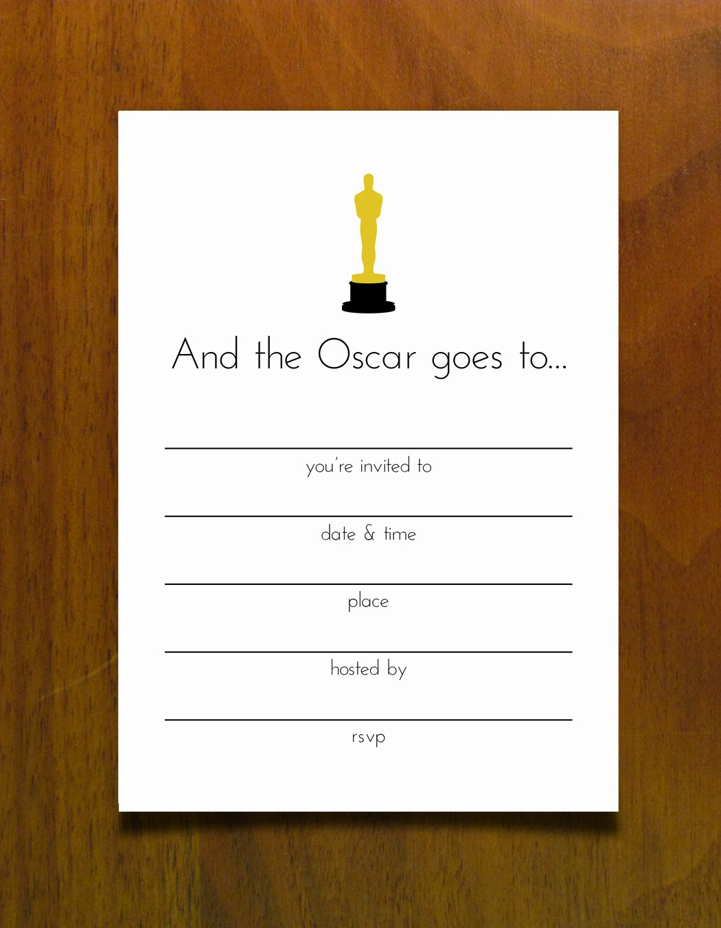 Oscar Invitation Templates Inspirational Oscar Invitation Templates