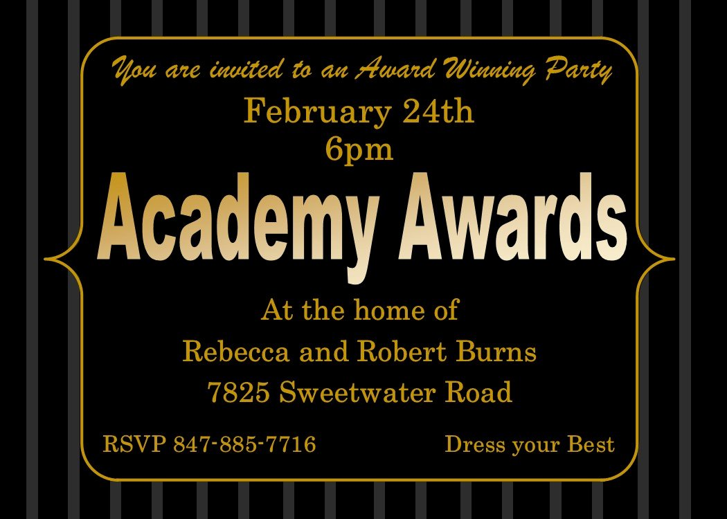 Oscar Invitation Templates Luxury Academy Awards Party Invitations and Oscar Invitations New