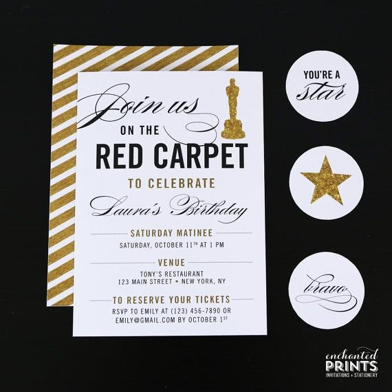 Oscar Invitation Templates Luxury Best 25 Red Carpet Party Ideas On Pinterest