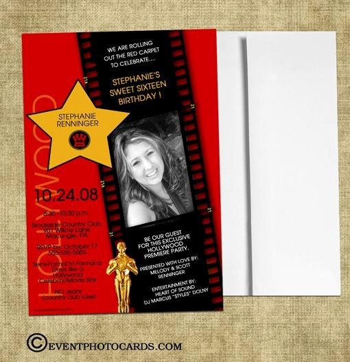 Oscar Invitation Templates Unique 17 Best Red Carpet Hollywood Invitations Images On
