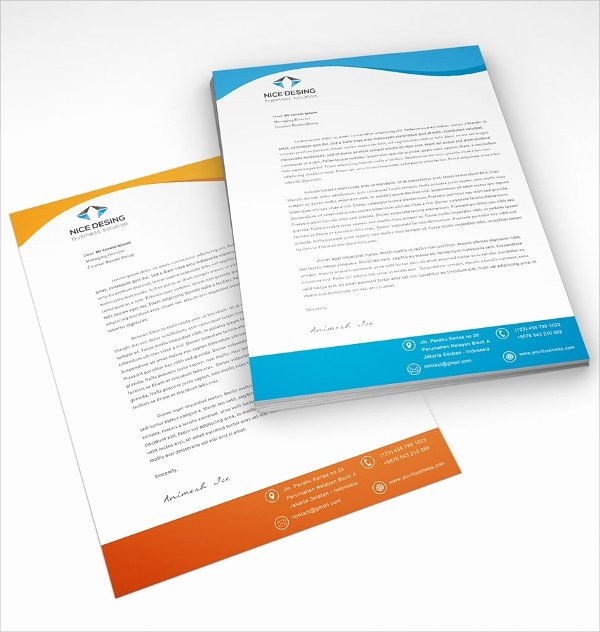 Outlook Stationery Templates Free Download Elegant 42 Pany Letterhead Templates
