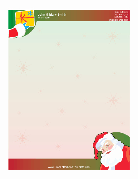 Outlook Stationery Templates Free Download Elegant Free Printable Santa Letterheads 9jasports