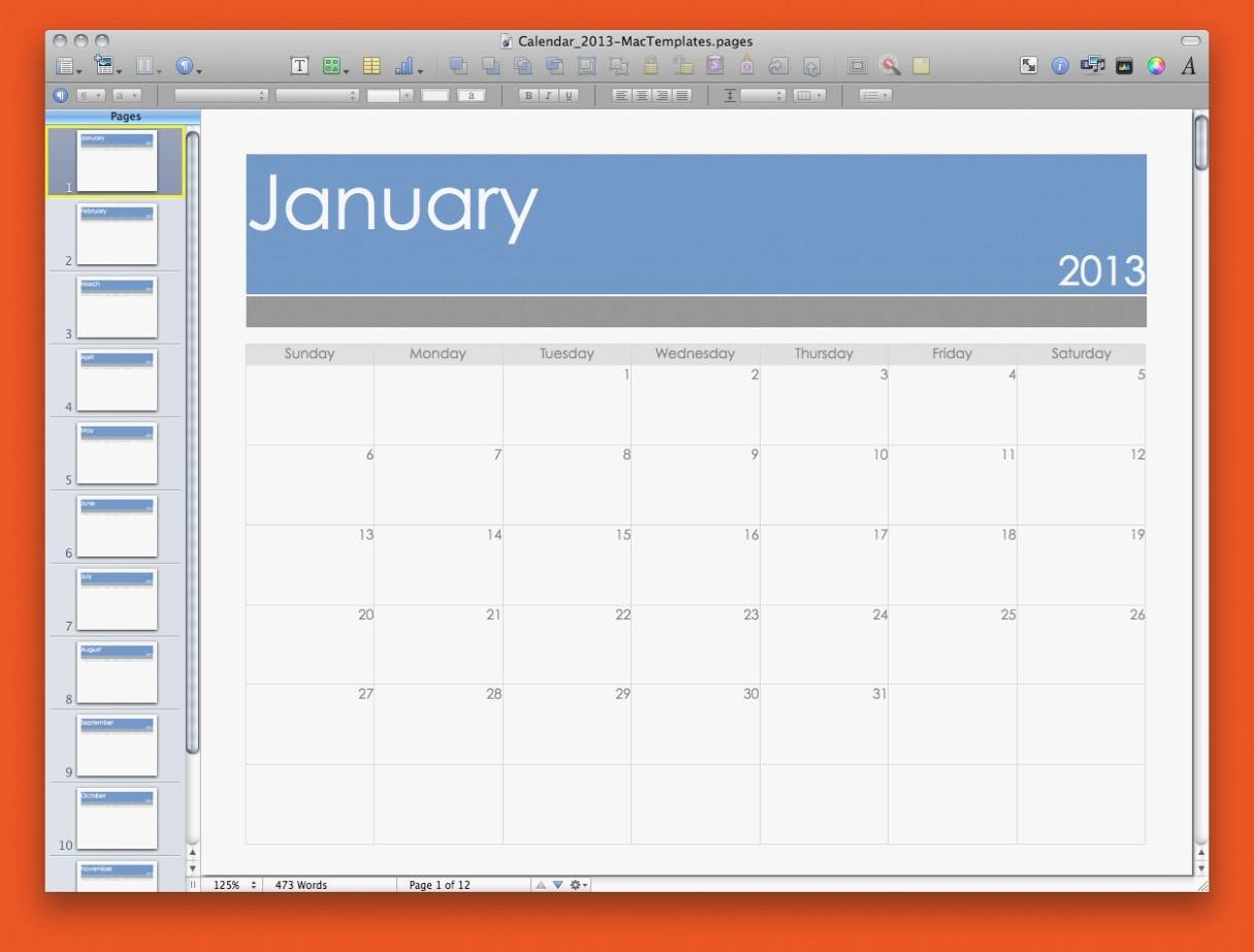 Pages Calendar Template Mac Unique Best Calendar Template Pages Mac Calendar Printable Template
