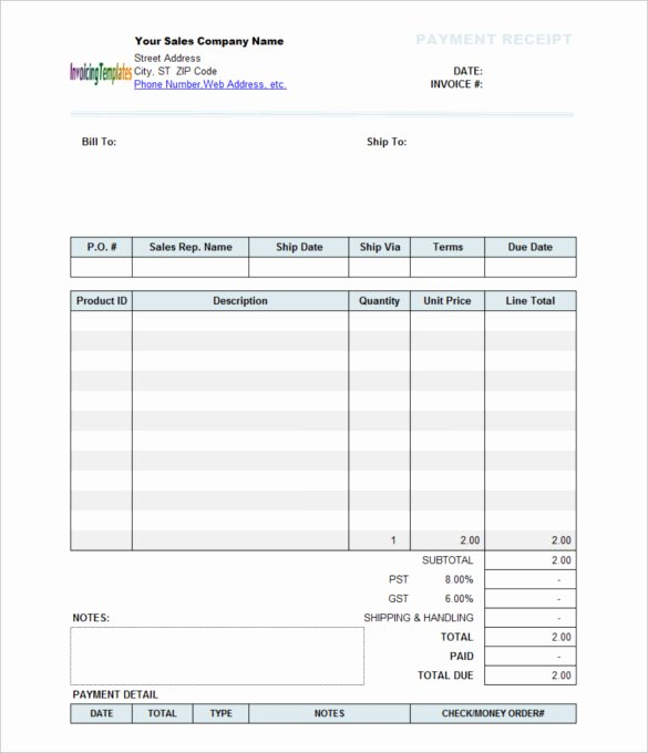 Paid In Full Receipt Template Elegant Free Program Free Template Payment Receipt
