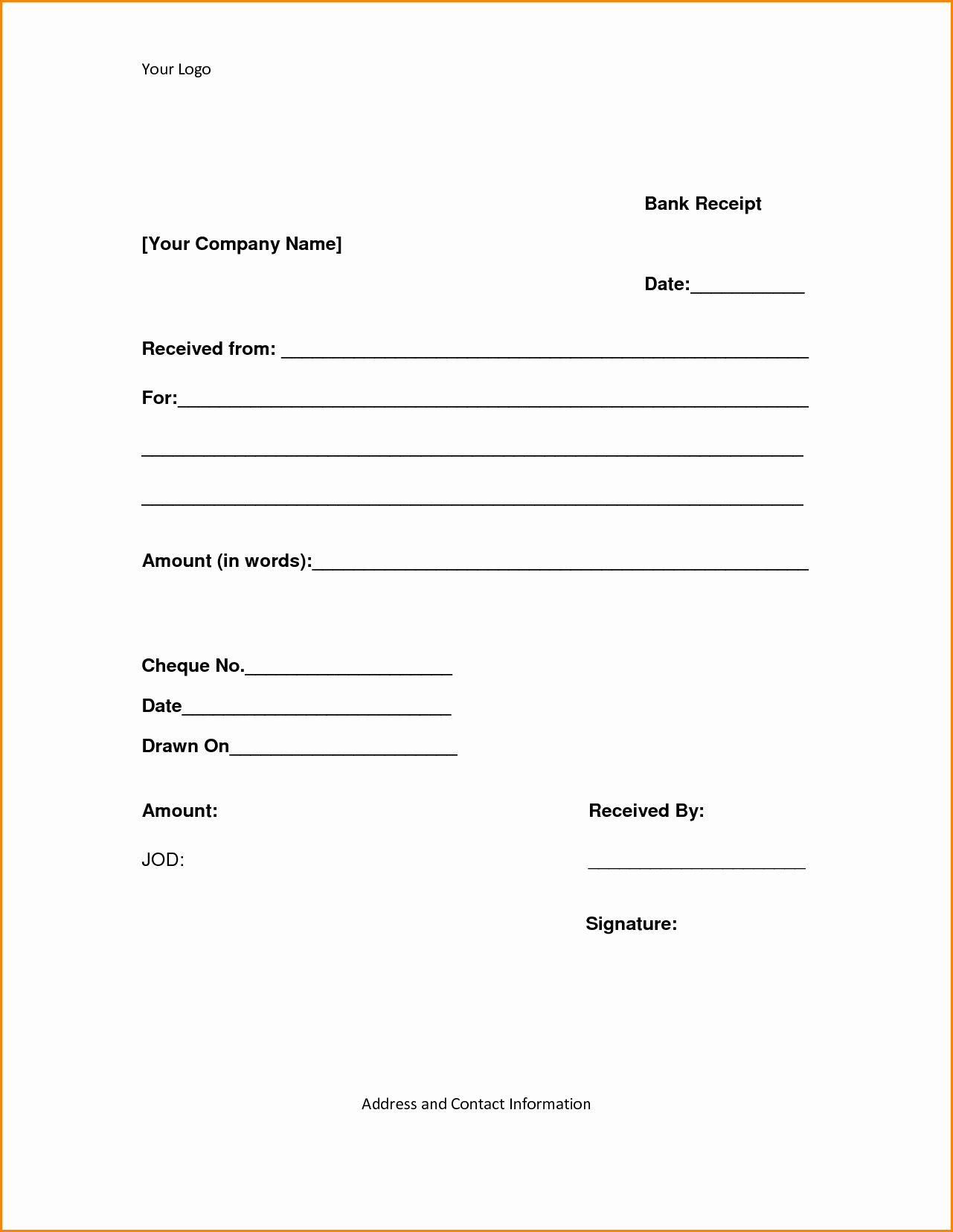 Paid In Full Receipt Template Free Best Of 8 Receipt Of Payment