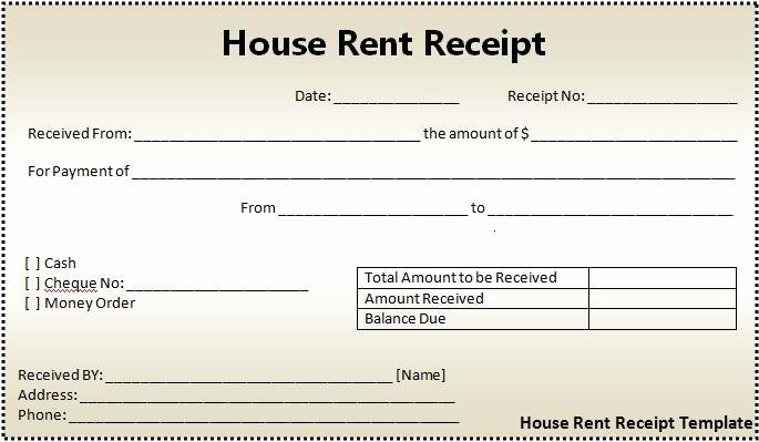 Paid In Full Receipt Template Free Fresh 16 House Rent Receipt format