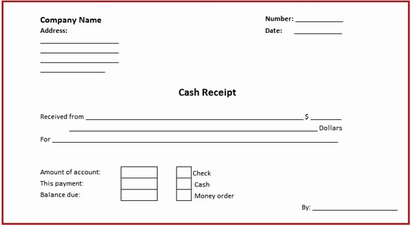 Paid In Full Receipt Template Fresh Receipt