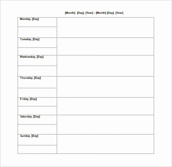 Paint Schedule Template Best Of Blank Schedule Template – 21 Free Word Excel Pdf format