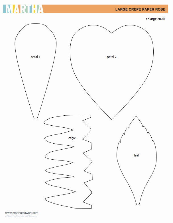 Paper Flower Template Martha Stewart Inspirational Paper Flower Templates