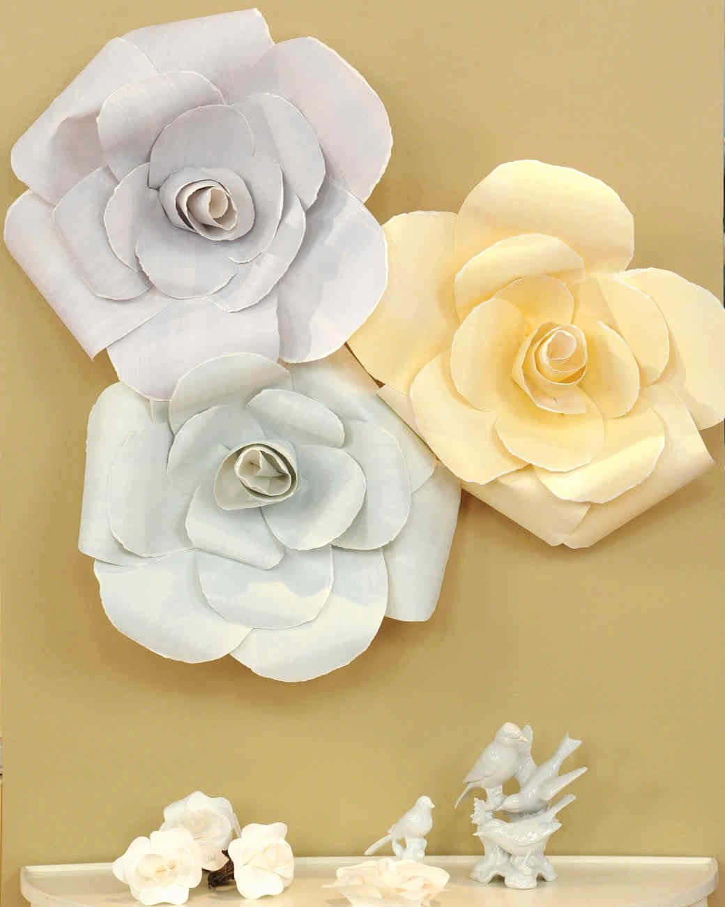 Paper Rose Template Martha Stewart Beautiful Rose Inspired Recipes Crafts and Decor
