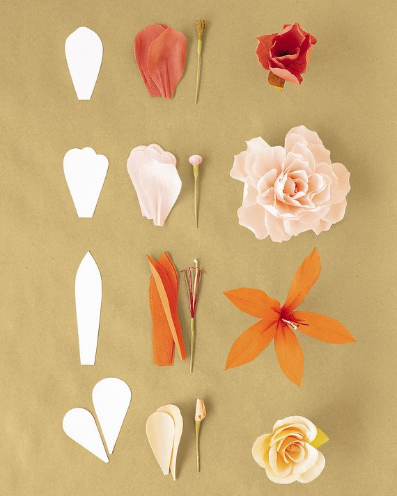 Paper Rose Template Martha Stewart Unique How to Make Crepe Paper Flowers