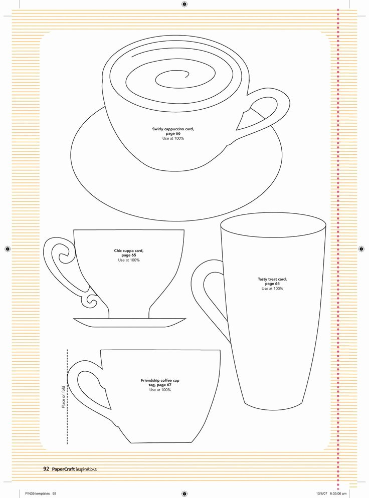 Paper Tea Cup Template Elegant Best 25 Paper Tea Cups Ideas On Pinterest