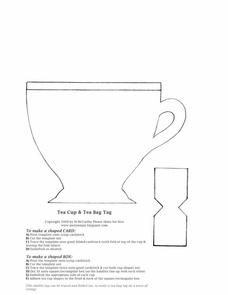 Paper Tea Cup Template Elegant Kool Crafts and Arts Tea Cup Template