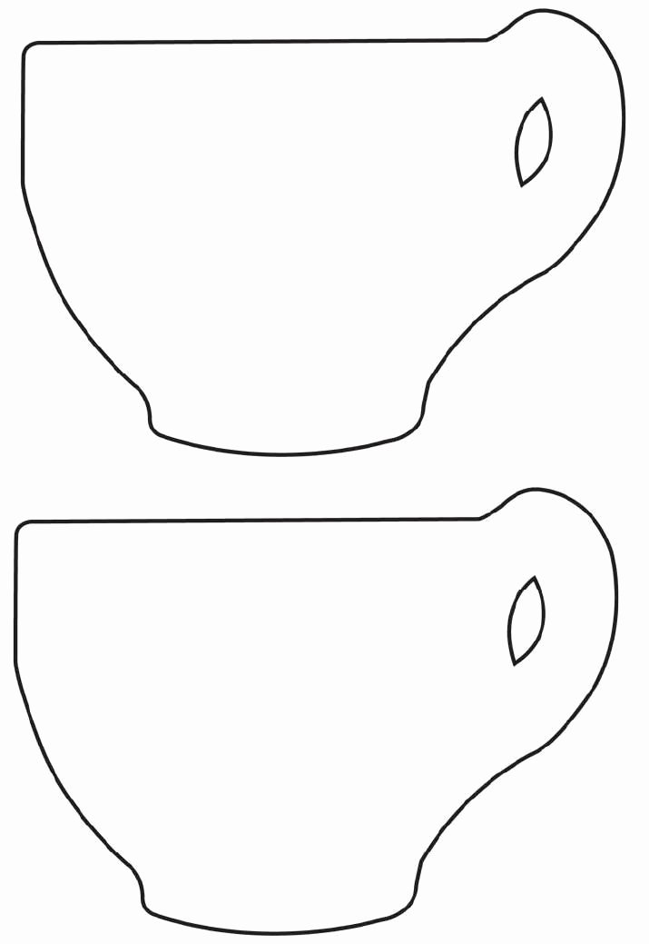 Paper Tea Cup Template Fresh Free Printable Tea Cup Template