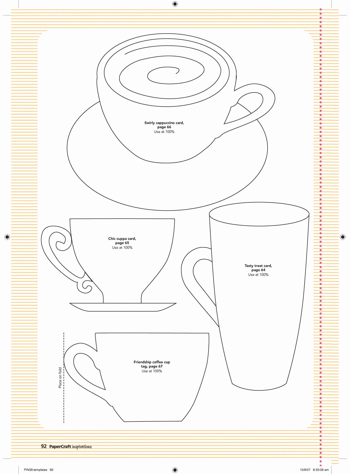 Paper Tea Cup Template Fresh Pin by Linda J On Coffee Tea Pots Accessories Etc