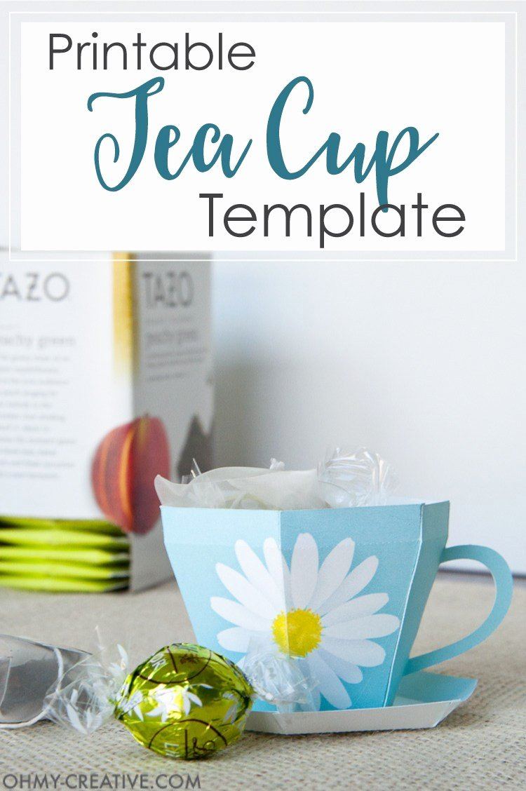Paper Tea Cup Template Lovely Tea Cup Template Printable