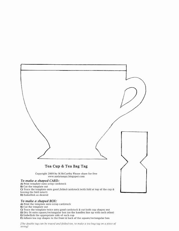 Paper Tea Cup Template Luxury Invitation Template Tea for Two or 3 or