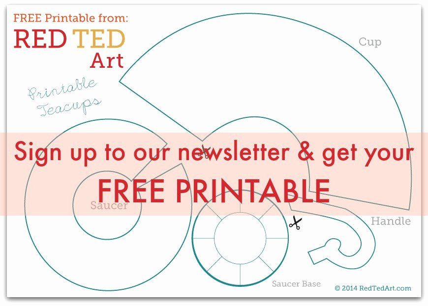 Paper Tea Cup Template New Free Printable Teacup Pattern Red Ted Art S Blog