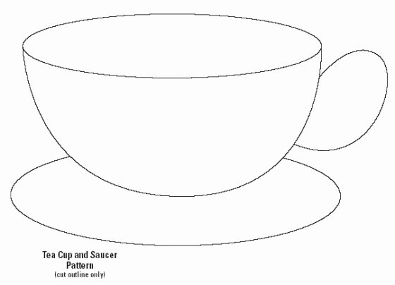 Paper Tea Cup Template New French Fashion and Trends Homemade Hanging Mobile and My