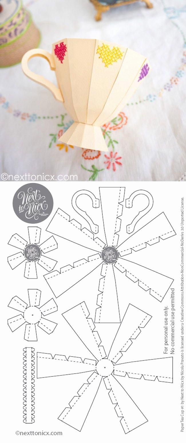 Paper Teacup Template Beautiful Best 25 Paper Tea Cups Ideas On Pinterest