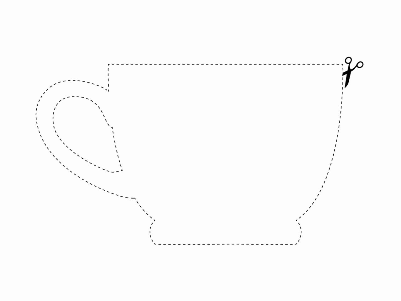 Paper Teacup Template Beautiful Hgtv Magazine Diy Kitchen Art Downloads