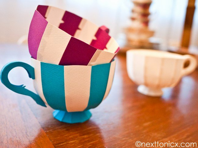 Paper Teacup Template Beautiful Make some Paper Teacups