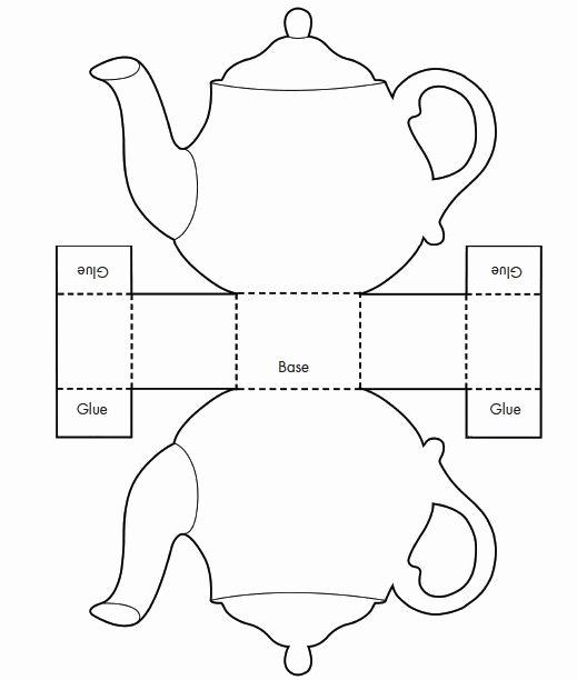 Paper Teacup Template Best Of Printable Teacup Template Tea Pot Candy Box Templates