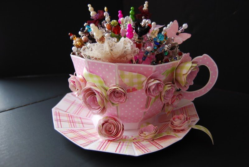 Paper Teacup Template Elegant Created by Missie Paper Tea Cup to Hold My Stick Pins
